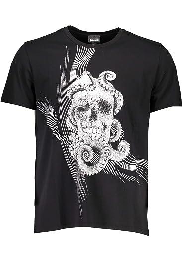 7489efbaeb688 Just Cavalli S01GC0532 T-Shirt Short Sleeves Men: Amazon.co.uk: Clothing
