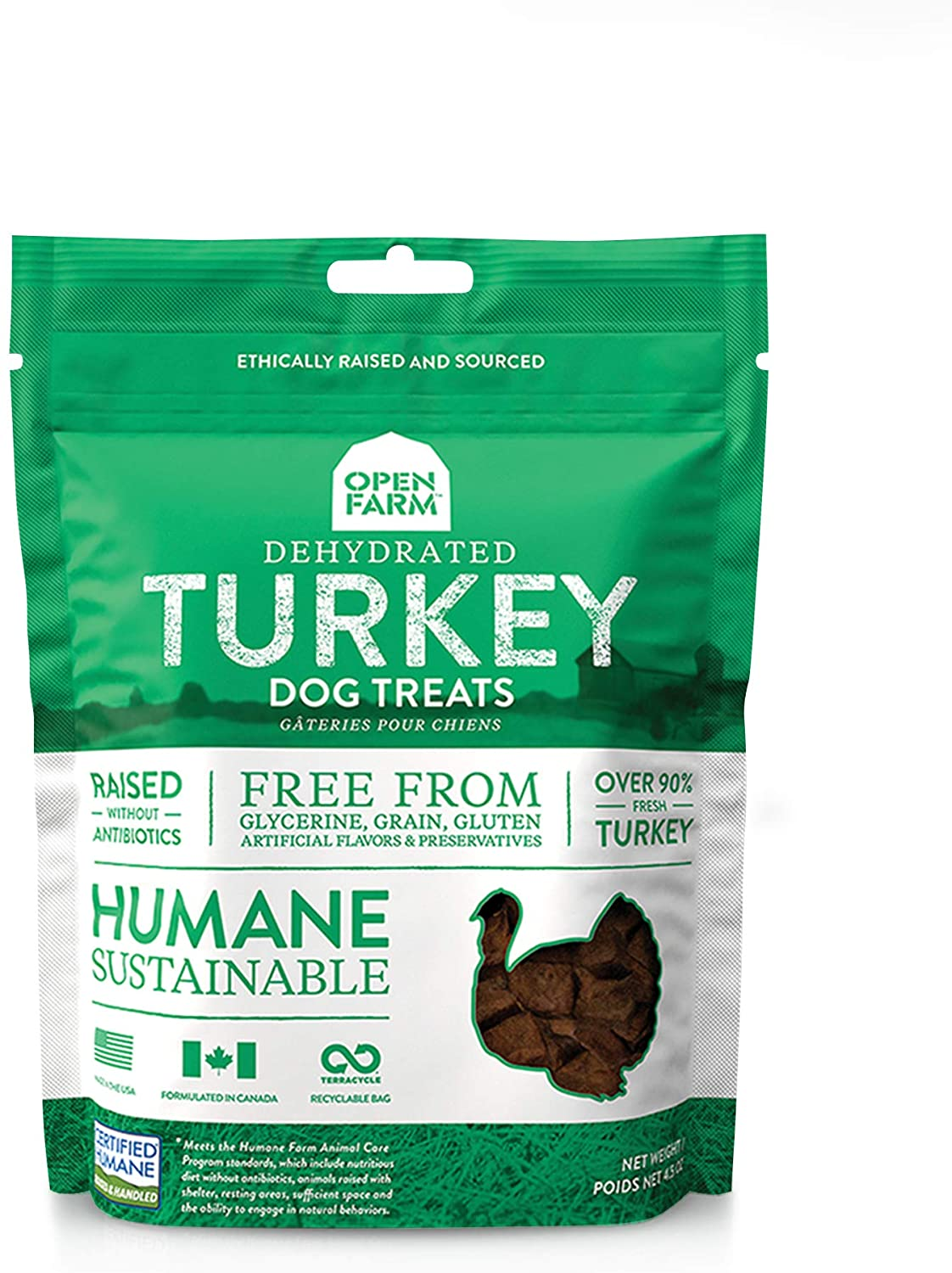 Open Farm Dehydrated Grain-Free Dog Treats, Gently Cooked Recipe with Natural Simple Ingredients and No Artificial Flavors or Preservatives