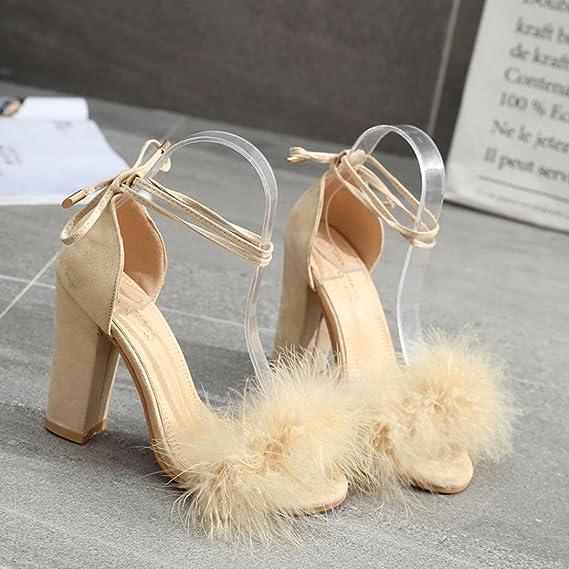 Covermason Zapatos Sandalias mujer verano 2018, fiesta de tacón alto para mujeres Boca de pescado: Amazon.es: Ropa y accesorios