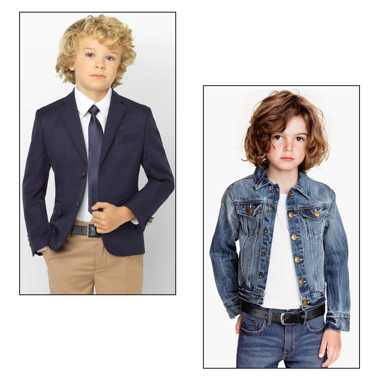 Black Leather Belts for Boys BALTEUS Designer Western Children Big Kids Belt (Fit Waist 16-20 Inches)