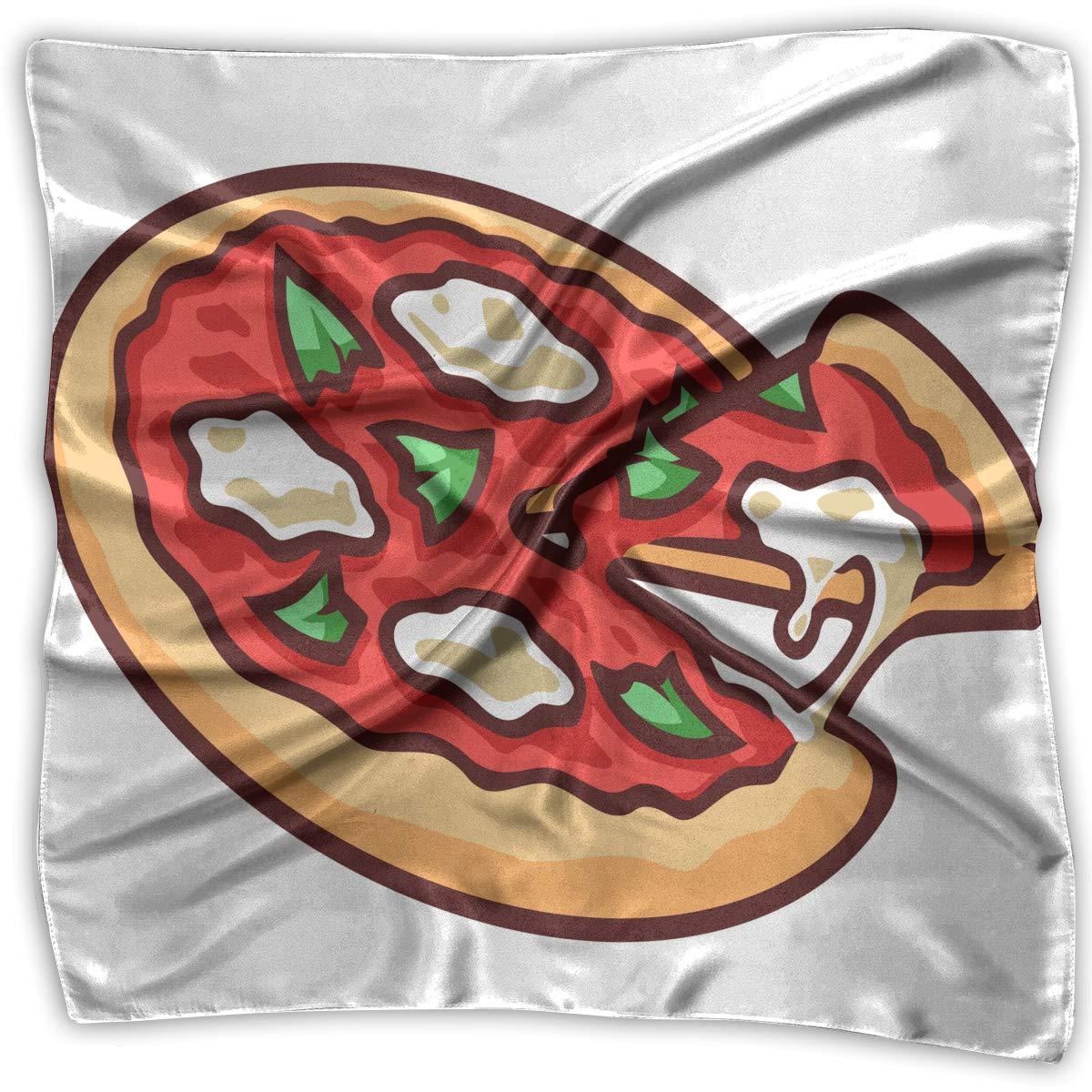 Square Scarf Pizza Vector Scarves Unisex Head /& Neck Tie For Women