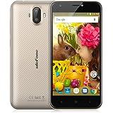"Ulefone S7 Smartphone Smartphone 3G Android 7.0 (MTK6580 Quad core 1.3GHz, 5.0"" HD Schermo, 1GB RAM 8GB ROM, 8MP+5MP+5MP Camera, Dual SIM, 2500mAh Batteria, Gesti intelligenti, GPS, WIFI) Oro"