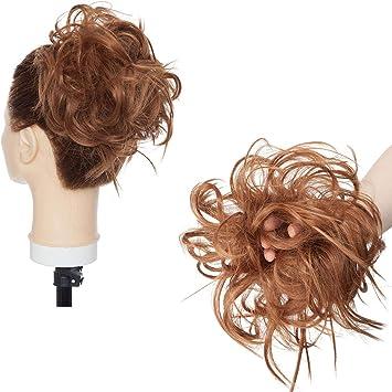 Xxl Postiche Cheveux En Caoutchouc Chouchou Chignons Volumineux Boucles Ou Chignon Decoiffe Extension A Clip Cheveux Naturel Auburn Clair Amazon Fr Beaute Et Parfum