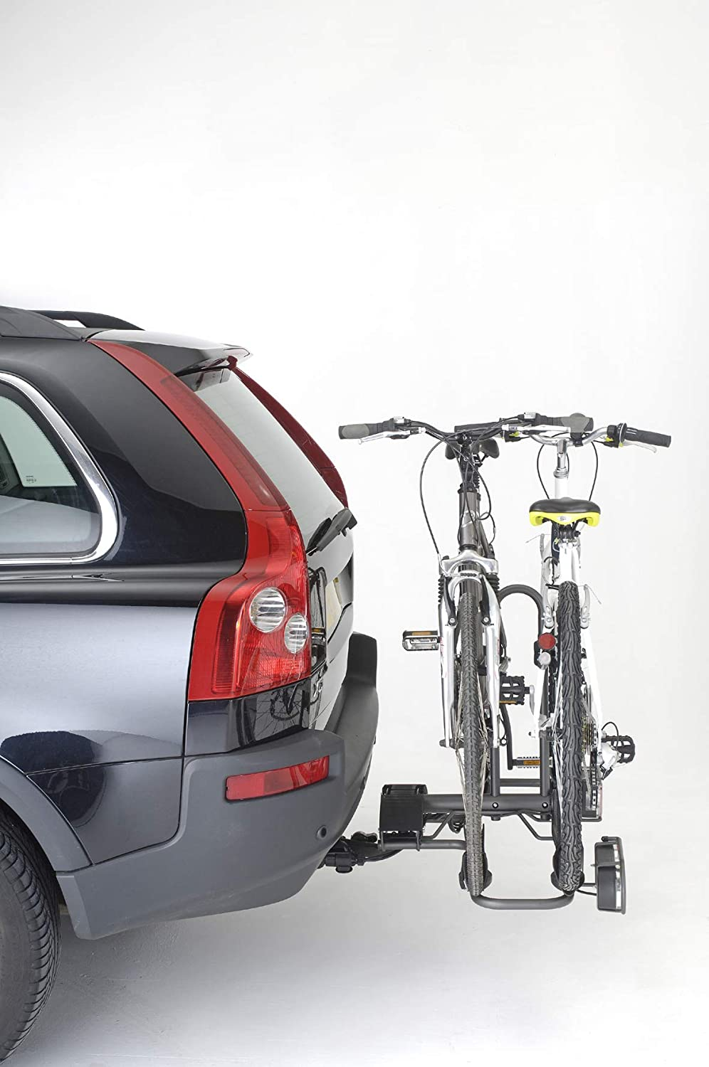 Mottez Bicycle Rack Attaches to Car Chassis Foldable 2 Bicycles Grey