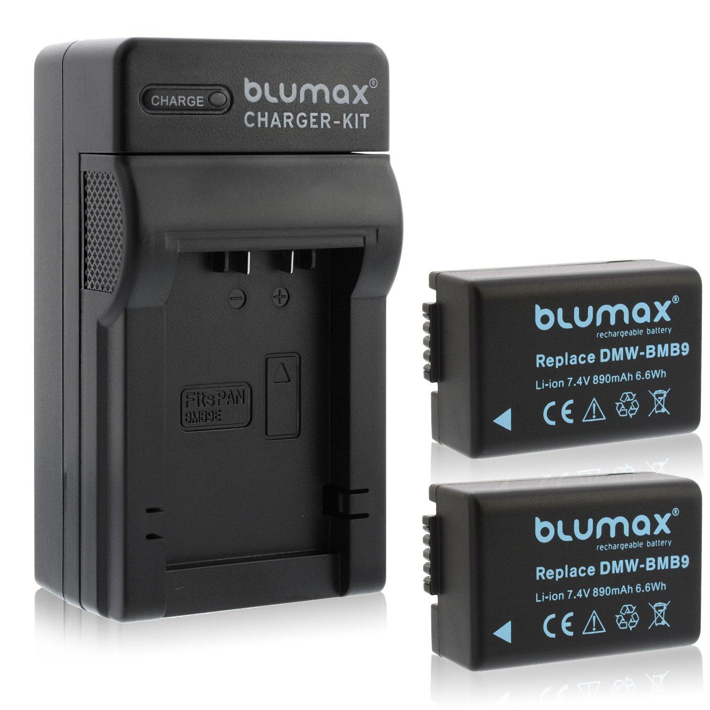 Akku für Panasonic DMW-BMB9-E z.B Lumix DMC-FZ45 DMC-FZ48 Dual-Ladegerät