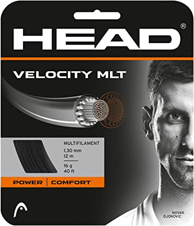 Head Velocity 1.25mm Black Multifilament Tennis String