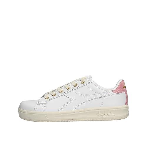 Dettagli su Diadora Game Wn Scarpe Sneakers da Donna Ginnastica Stella Bianche con Logo Rosa