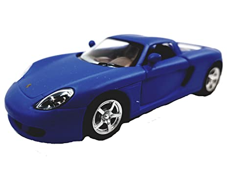 Carrera Gt Porsche Finition Mate Kinsmart Bleue Modèle Hard Top cR53Aj4Lq