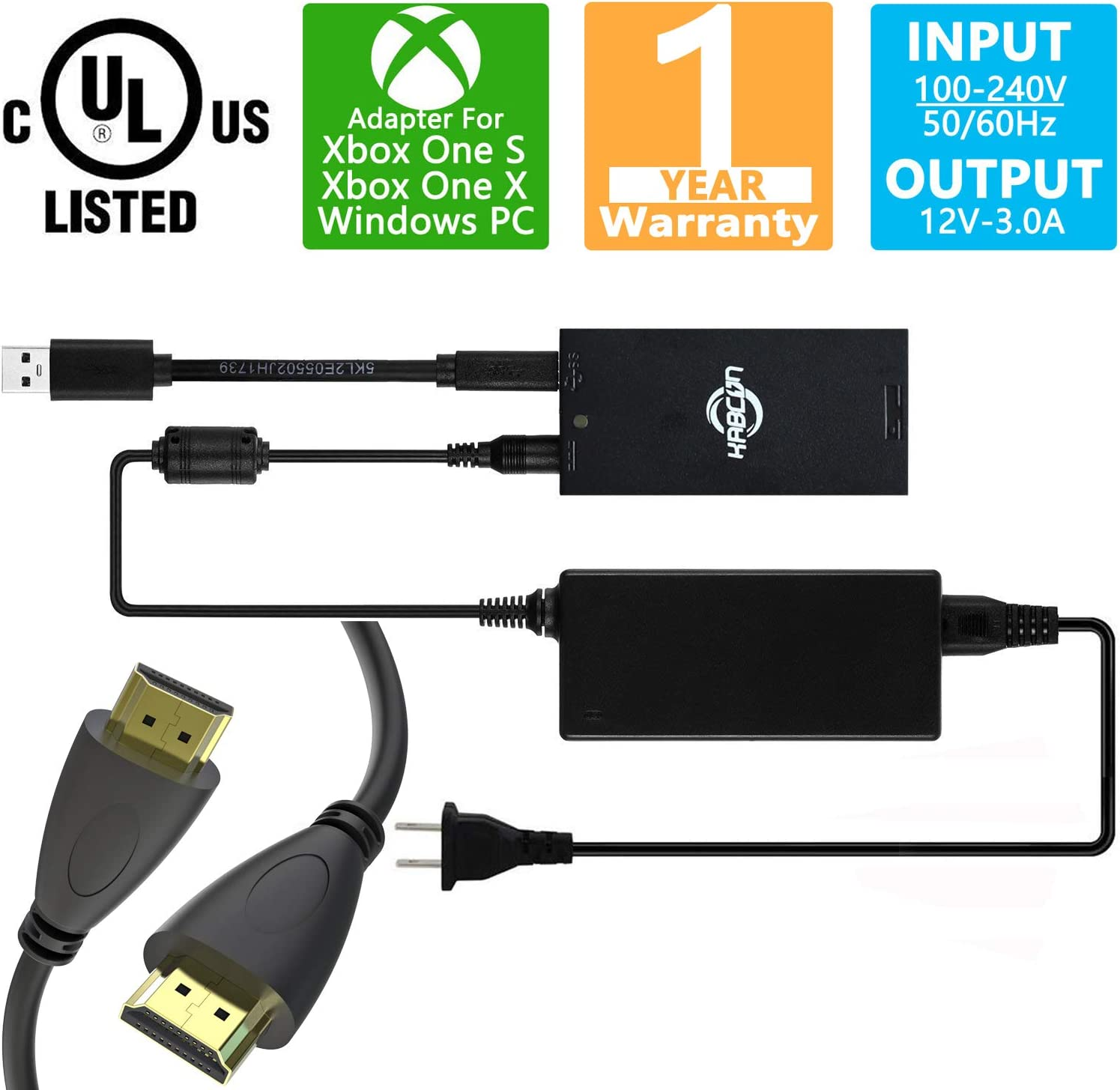 Amazon com: Kinect Adapter for Xbox One S/Xbox One X/Windows PC, [UL