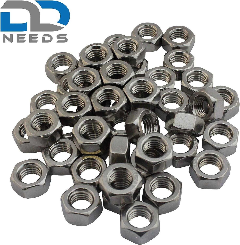 Taille: M2 /Écrou hexagonal D2D Unit/é demballage: 50 pi/èces DIN 934 // ISO 4032 en acier inoxydable A2 V2A /écrous hexagonaux