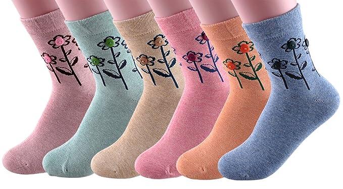 1950s Socks- Women's Bobby Socks EZclassy-New Womens Toe Socks Flower With Button Socks H5293 $10.80 AT vintagedancer.com