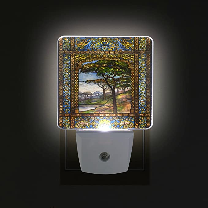 Hot Air Balloon Fused Glass Plug In Night Light Sconce