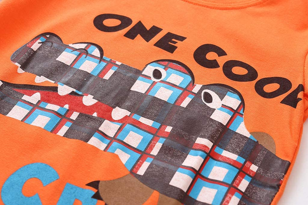2-3 Ans Enfant en bas /âge enfants b/éb/é gar/çon dessin anim/é dinosaure t-shirt hauts maillots shorts 2 pi/èces tenues ensemble Chic Cadeau Saint-Patrick Pas Cher V/êtements enfants /Ét/é