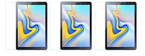 Colorcase  Pack of 3  Tempered Glass Screenguard for Samsung Galaxy Tab A 10.5 Tablet   [Transparent} <span