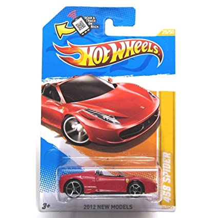 Hot Wheels 2012 New Models 25/50 025 Ferrari 458 Spider Red Convertible