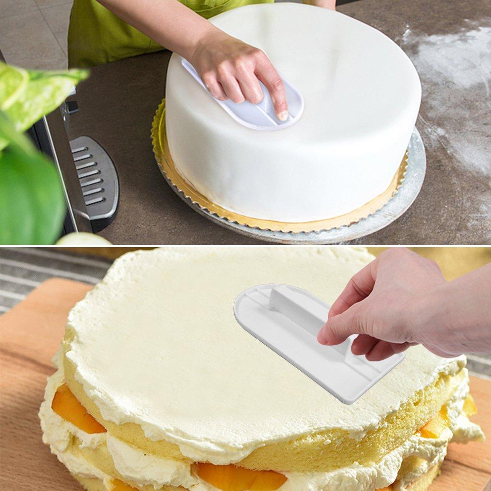 6 rascadores decorativos para tartas para pulir y 5 herramientas blandas para fondant Sourceton Juego de 11 raspadores blandos para tartas y fondant