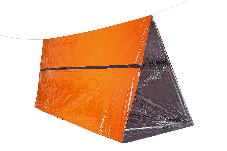 Somine緊急避難所オレンジ色緊急サバイバルテント簡単キャンプハイキング旅行用に組み立て - サイズ:2.4m X 1.5m   B07455J8Y1