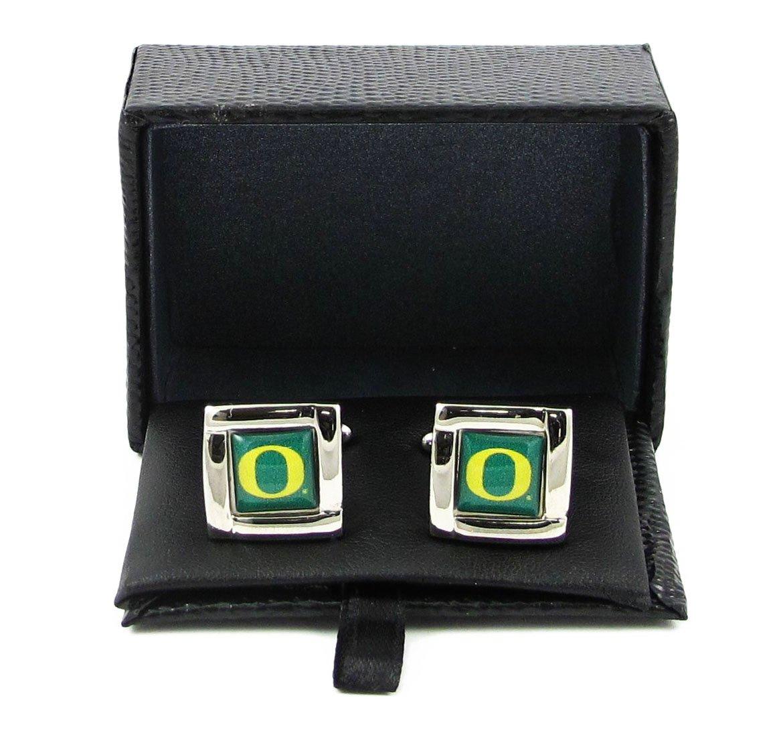 NCAA Oregon Ducks Sports Team Logo Square Cufflinks Gift Box Set Aminco 34166889