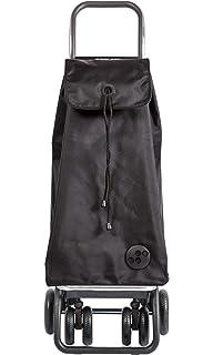 ROLSER Jet Casual Daypack Bag Organiser 2 Wheel Shopping Trolley Black