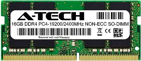 A-Tech 16GB RAM for Lenovo ThinkPad E590 DDR4 2400 SODIMM PC4-19200 1.2V 260-Pin Memory Upgrade Module