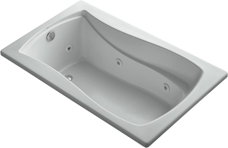 Ice Grey KOHLER K-1239-95 Mariposa 60-Inch X 36-Inch Drop-In Whirlpool with Reversible Drain
