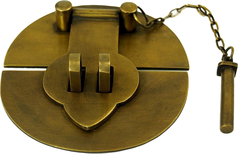 10x10x2 cm Herraje de Puerta en Estilo Colonial Chino Guru-Shop Cerradura de Puerta Lat/ón Tiradores de Muebles Herrajes