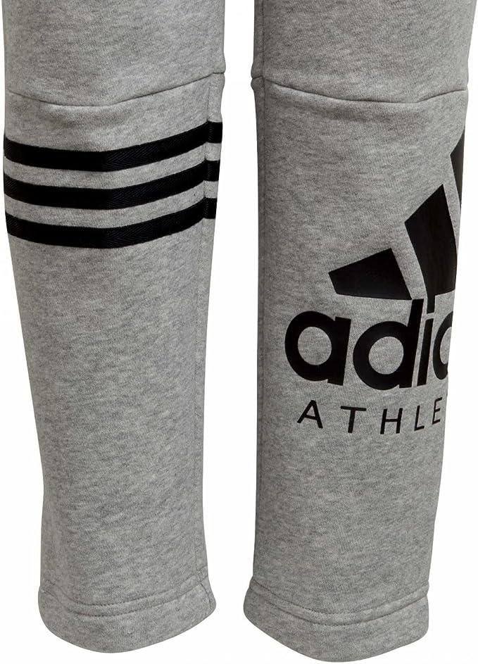 adidas Pantalón CHándal Junior YB SID Gris: Amazon.es: Ropa y ...