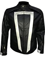 Agents of Shield Ghost Rider Biker Synthetic Leather Jacket