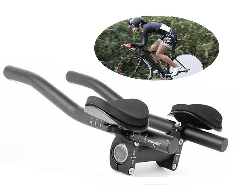 Yeemg TT Poign/ée Aerobar Triathlon Contre-la-Montre Tri V/élo Reste Guidon pour V/élo de Montagne et V/élo de Route Alliage Daluminium Version Mise /à Jour Noir