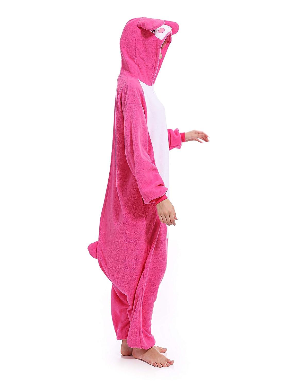 c921beddc Amazon.com: Rabbit Onesies Adult Pajamas Animal One Piece Cosplay Halloween  Costume for Women Men: Clothing