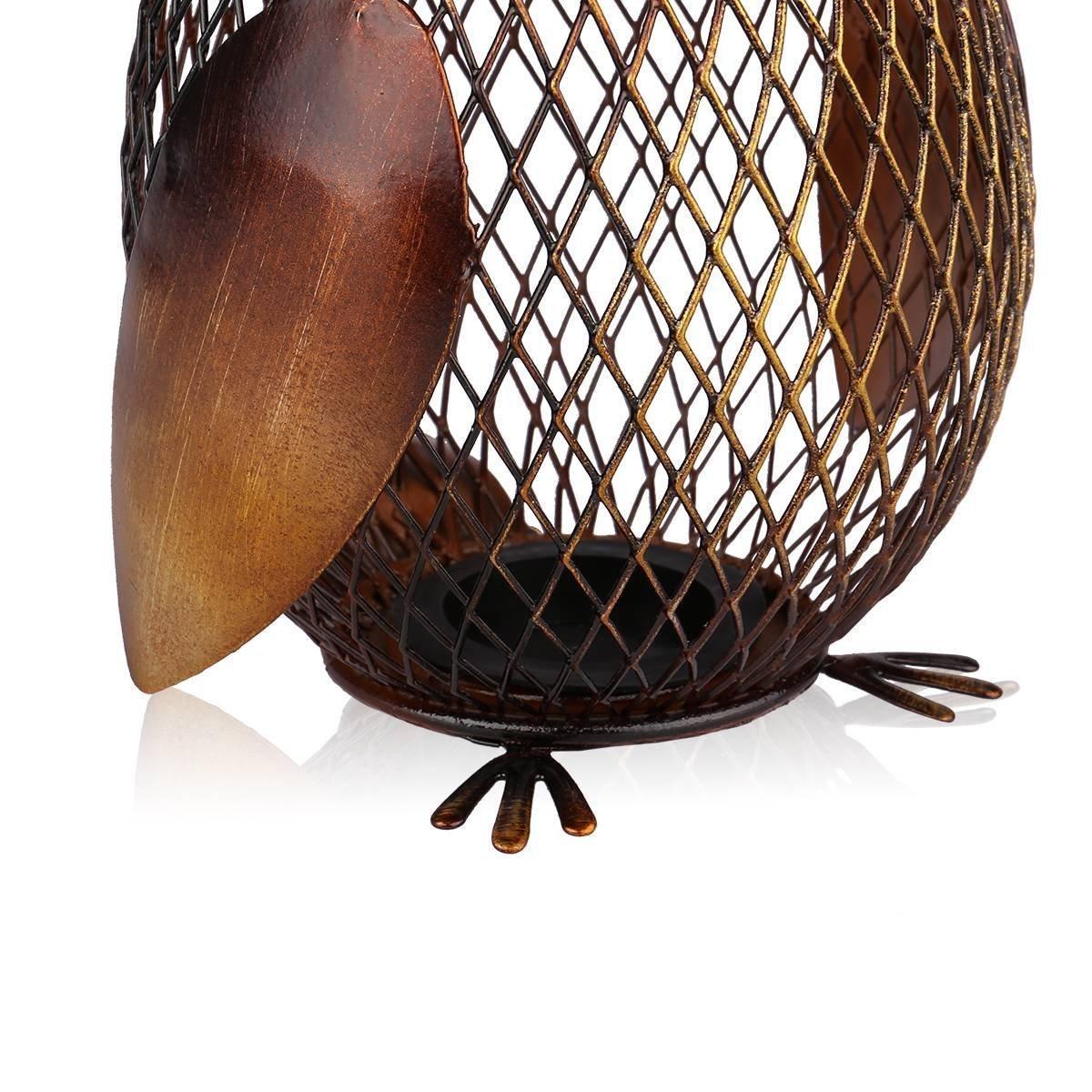 confection artisanale SGerste Tooarts Tirelire en m/étal faite main en forme de hibou