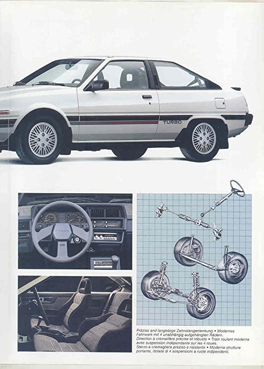 Amazon.com: 1987 Mitsubishi Cordia Turbo Brochure German French Italian: Entertainment Collectibles