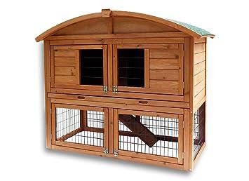 Conejera gallinero corral caseta roedores animales pequeños recinto abierto zona abierta corredor: Amazon.es: Jardín