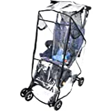 Stroller Rain Cover Stroller Weather Shield Universal Size, Waterproof, Water Resistant, Windproof, See Thru, Ventilation, Pr