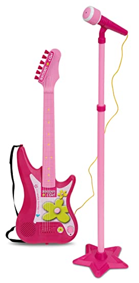 Bontempi Guitarra eléctrica con Amplificador y micrófono con Soporte Spanish Business Option Tradding 24 7571: Amazon.es: Juguetes y juegos