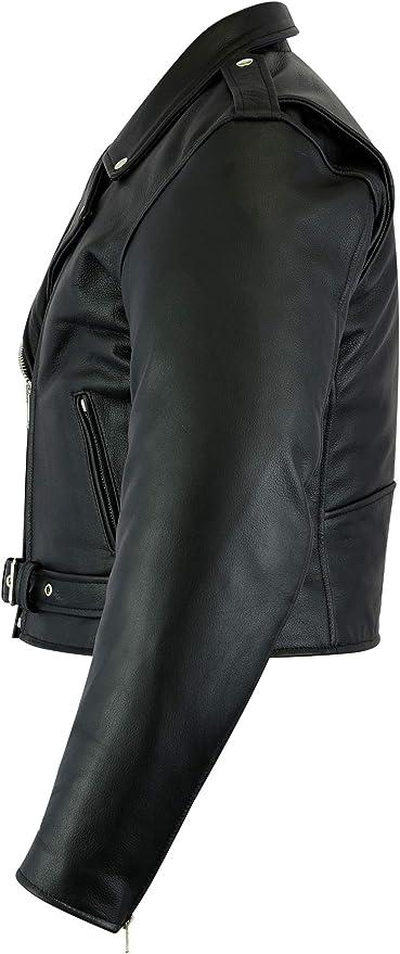 Texpeed Stylische Motorradjacke f/ür Damen aus Leder der Qualit/ätsklasse A