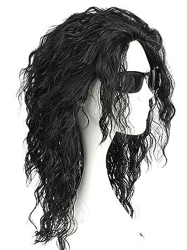 Child Michael Jackson Bad Album Curly Wig
