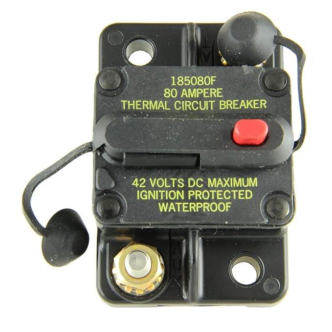 Bussmann CB185-80 Surface-Mount Circuit Breakers, 80 Amps