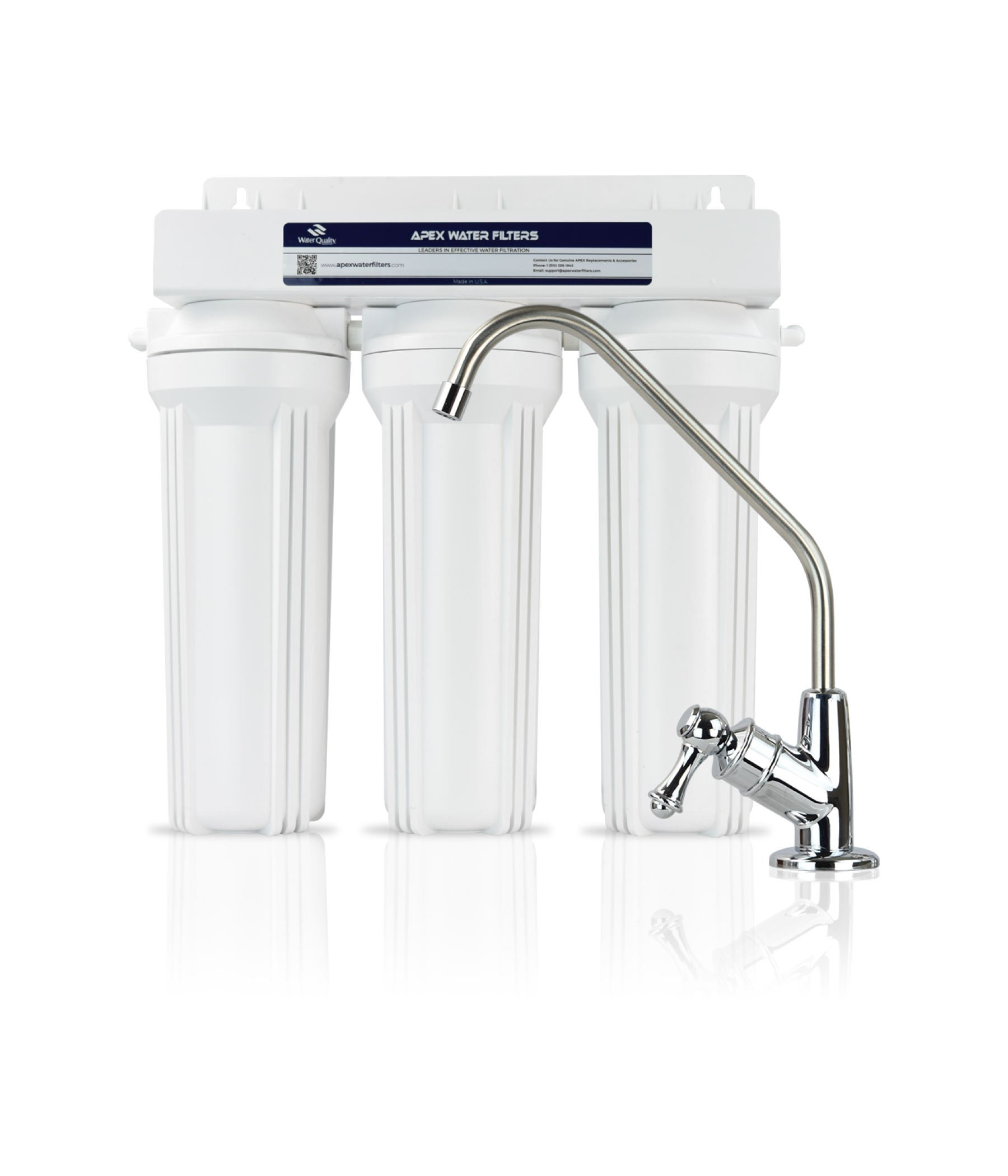 APEX MR-2030 Undercounter Water Filter System - Made in U.S.A.