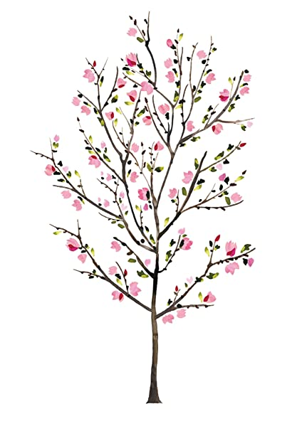 17215df6d Amazon.com  RoomMates RMK2460SLM Blossom Tree Peel and Stick Giant Wall  Decals