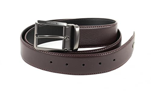 LACOSTE Curved Belt Stitched Edges W85 Brown