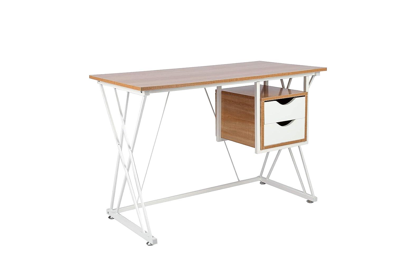 Haliwu 181 Computerschreibtisch Computertisch Schreibtisch Bürotisch Computertisch Arbeitstisch mit 2 Schubladen L 110xW 55xH 75cm