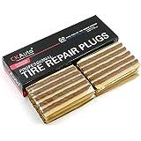 CKAuto 60 peças de cordas de reparo de pneu marrom, plugues de reparo de pneu de ferramenta automotiva para carro de pneus of