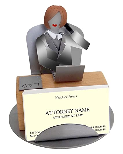 Amazon h k sculptures 6820bc female attorney business card h k sculptures 6820bc female attorney business card holder colourmoves
