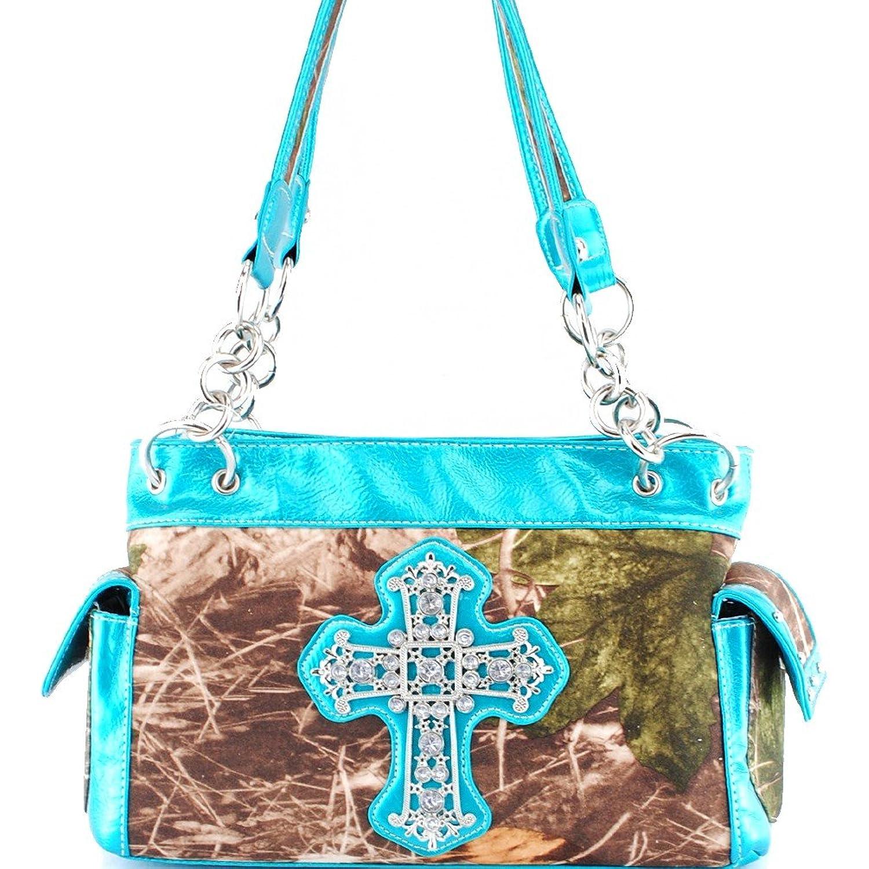 Camouflage Cross Shoulder Bag-Blue