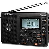 Retekess V115 Digital AM FM Radio Portable, Rechargeable Radio Digital Tuner, 9 Band Shortwave Radios, Support Micro SD Card