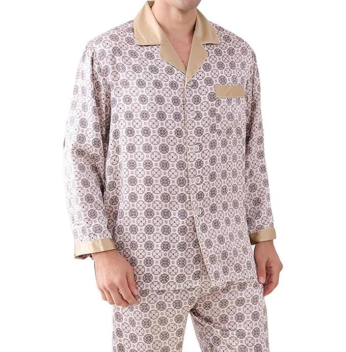 Pijamas Para Hombres Código Pijamas De Seda De Manga Larga Casual Primavera Y Otoño Servicio A