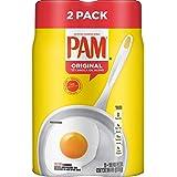 Pam Original No-Stick Cooking Spray 100% natural Canola Oil (2 pack - 12oz each can)