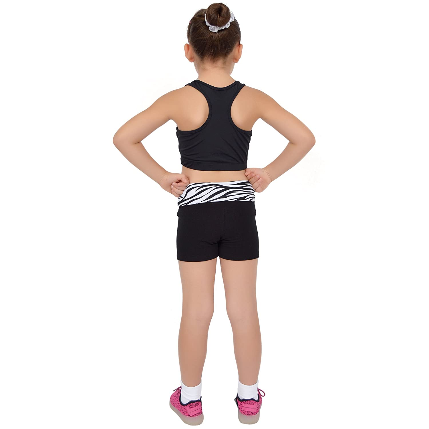 Stretch is Comfort Girls Foldover Yoga Shorts