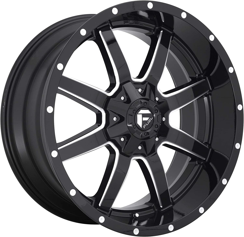 -44 MM Fuel 1PC Maverick 20X12 8X170.00 Gloss Black Milled Wheel